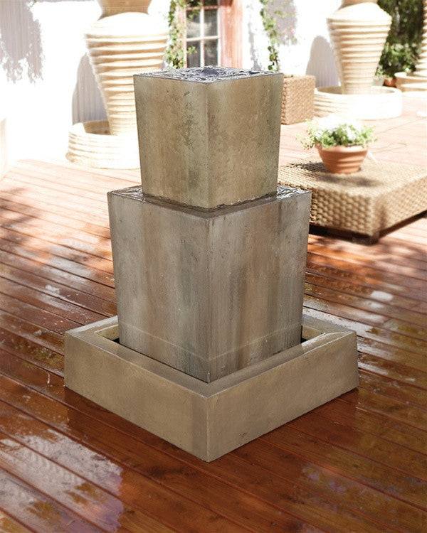 Double Obtuse Outdoor Fountain   Soothing Walls