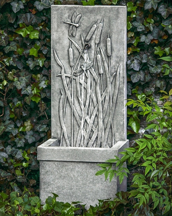 Dragonfly Wall Outdoor Fountain - Soothing Walls