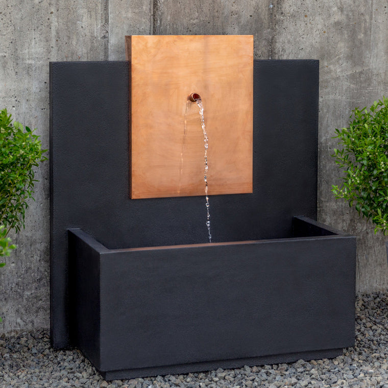 MC3 Wall Outdoor Fountain - Corten Steel - Soothing Walls