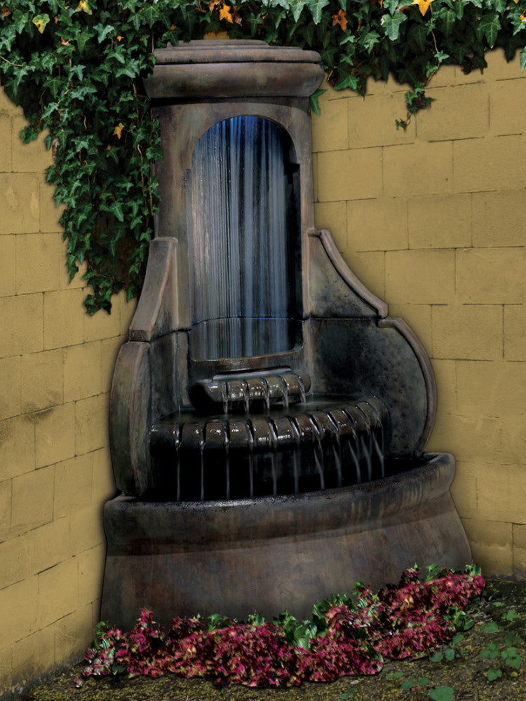 Falling Diamonds Outdoor Corner Fountain - Soothing Walls