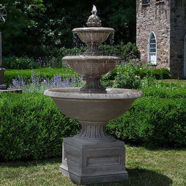 Fonthill Tiered Outdoor Water Fountain - Soothing Walls