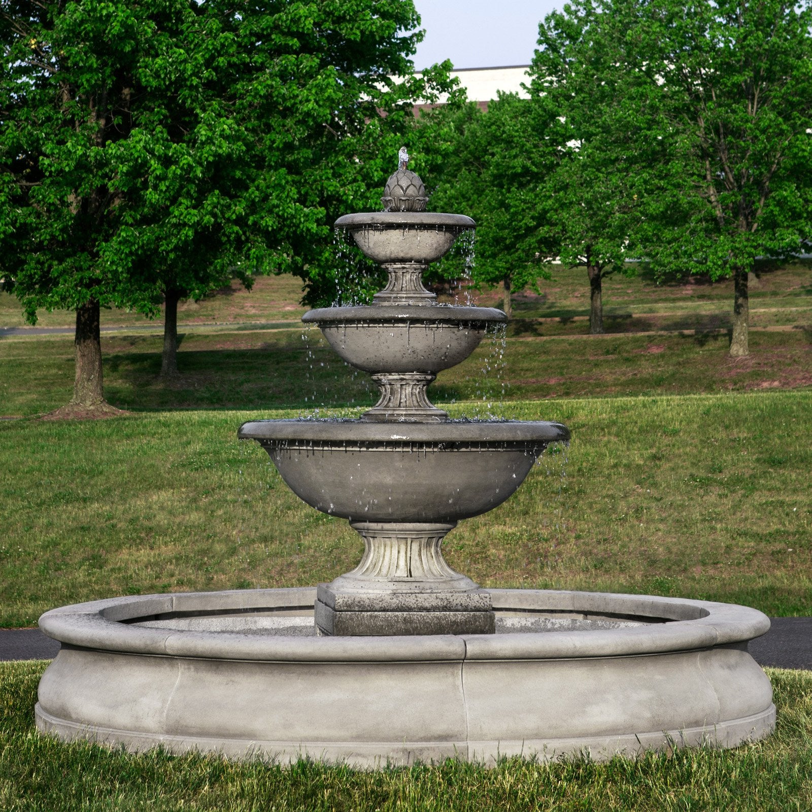 Charmant Fonthill Tiered Outdoor Water Fountain With Basin   Soothing Walls ...