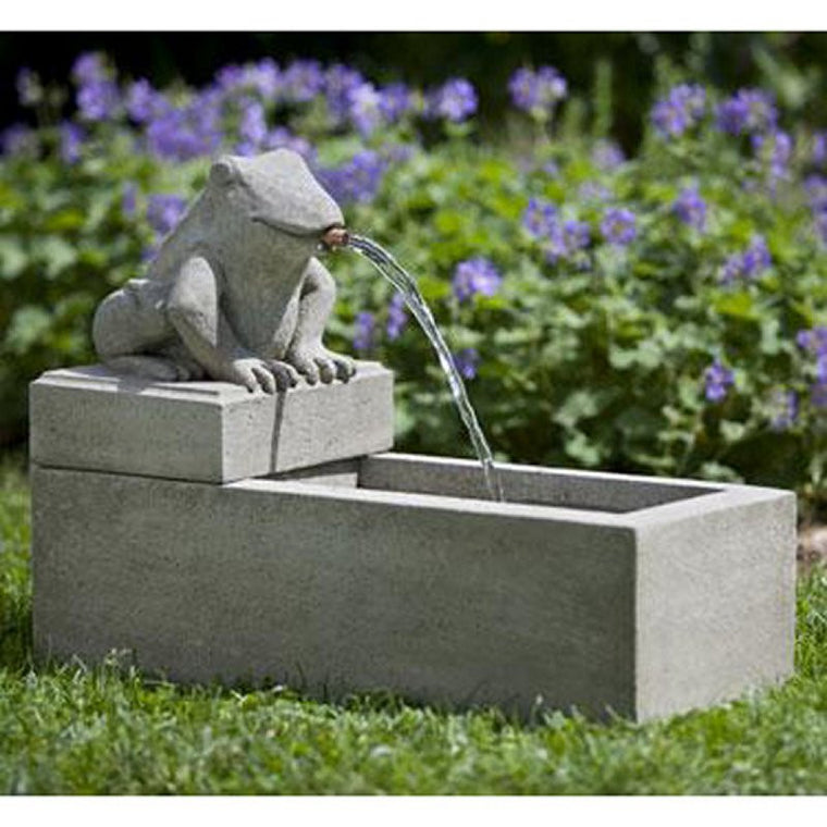 Frog Plinth Garden Fountain - Soothing Walls