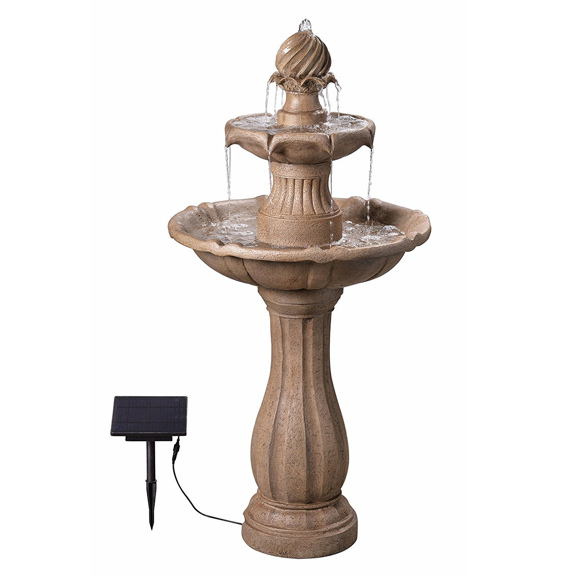 Frost Outdoor Solar Floor Fountain - Soothing Walls