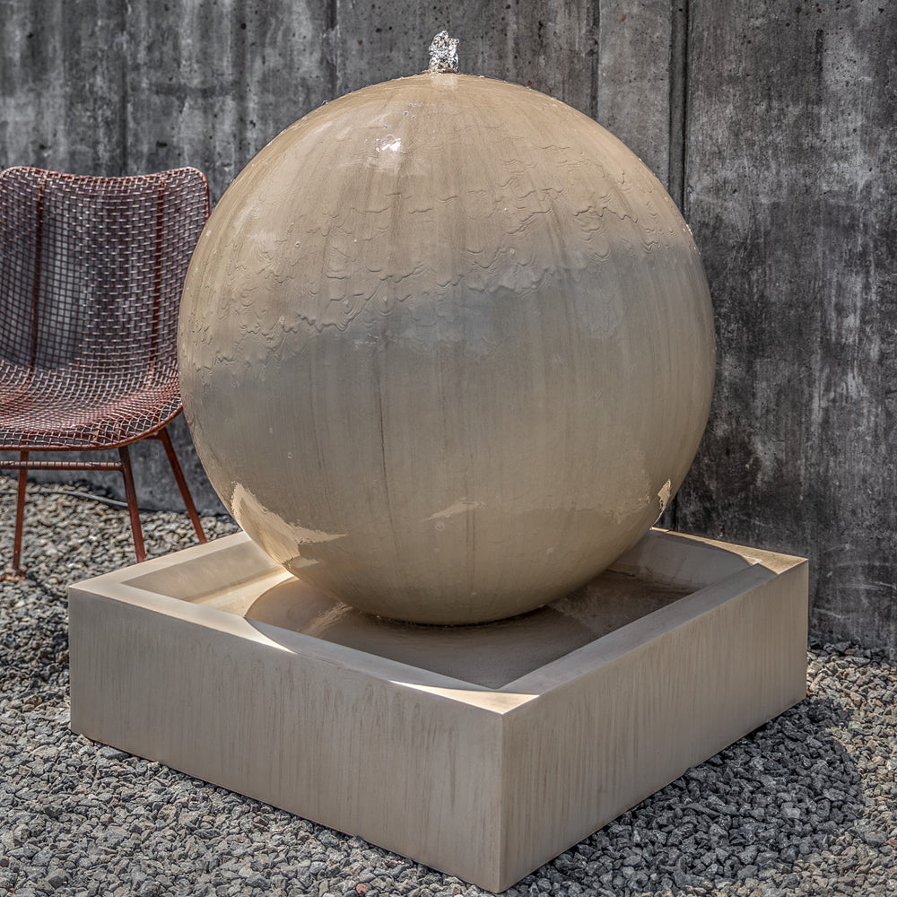 Large Sphere Garden Fountain - Soothing Walls