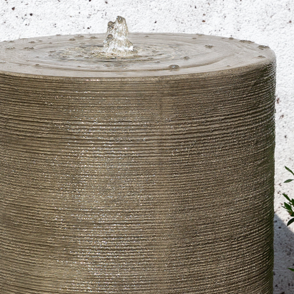 Large Cylinder Garden Fountain - Soothing Walls