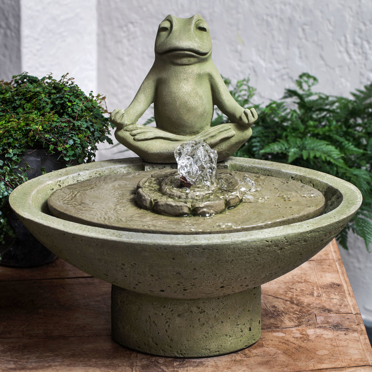 Garden Terrace Meditation Water Fountain - Soothing Walls
