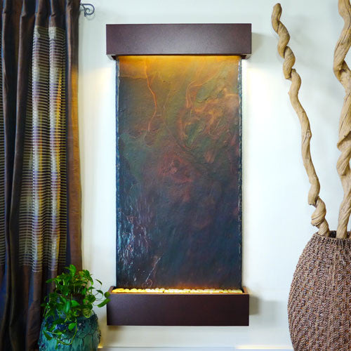 Grand Nojoqui Wall Fountain With Coppervein Trim - Soothing Walls
