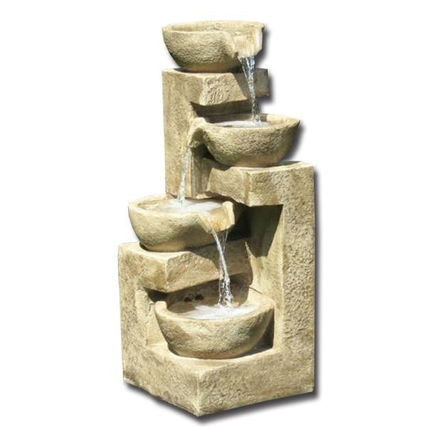Flowing Bowl Garden Water Fountain - Soothing Walls