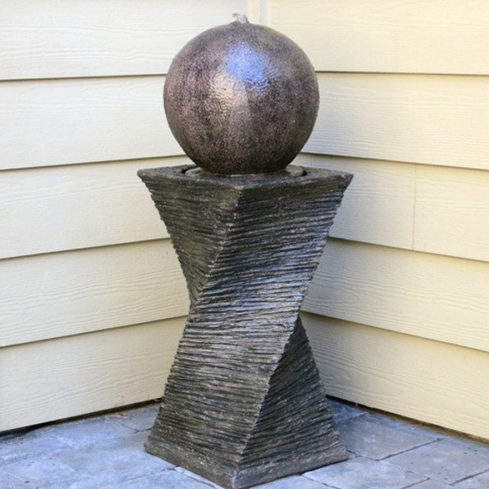Floating Sphere Garden Fountain