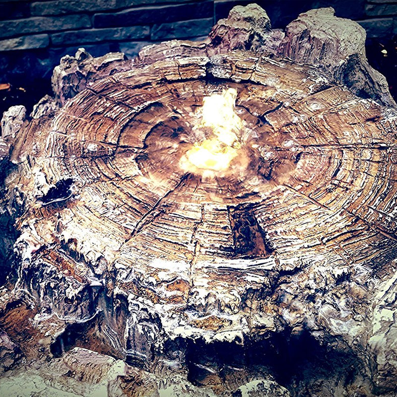 Huge Real-to-life Everlasting Spring Log Fountain with LED Lights- Soothing Walls