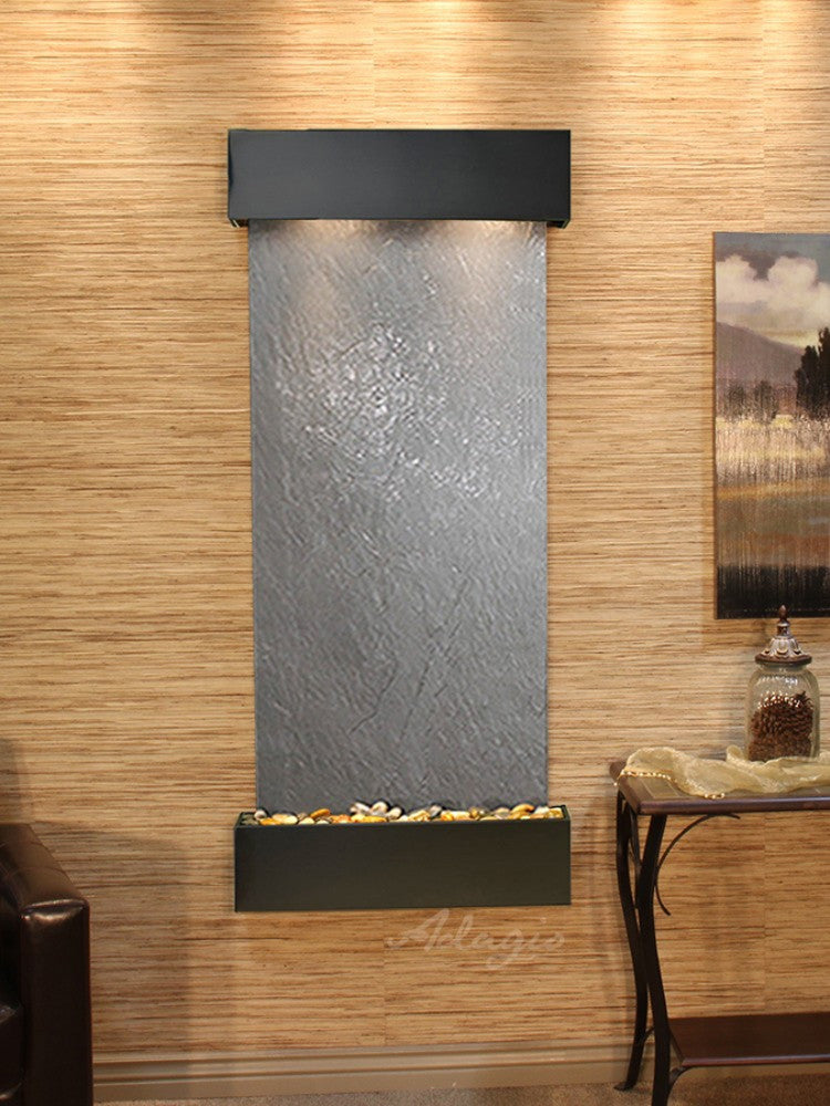 Inspiration Falls - Black FeatherStone - Blackened Copper - Squared Corners - Soothing Walls