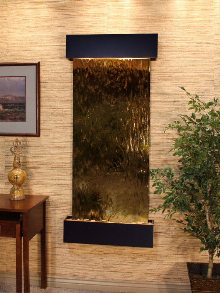 Inspiration Falls - Bronze Mirror - Blackened Copper - Squared Corners - Soothing Walls