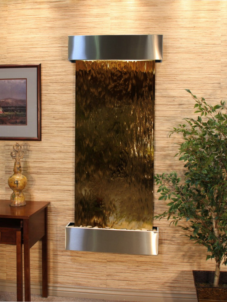 Inspiration Falls - Bronze Mirror - Stainless Steel - Squared Corners - Soothing Walls