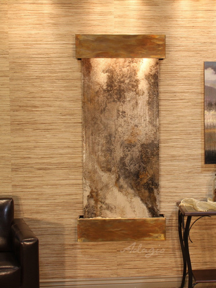 Inspiration Falls - Magnifico Travertine - Rustic Copper - Squared Corners - Soothing Walls