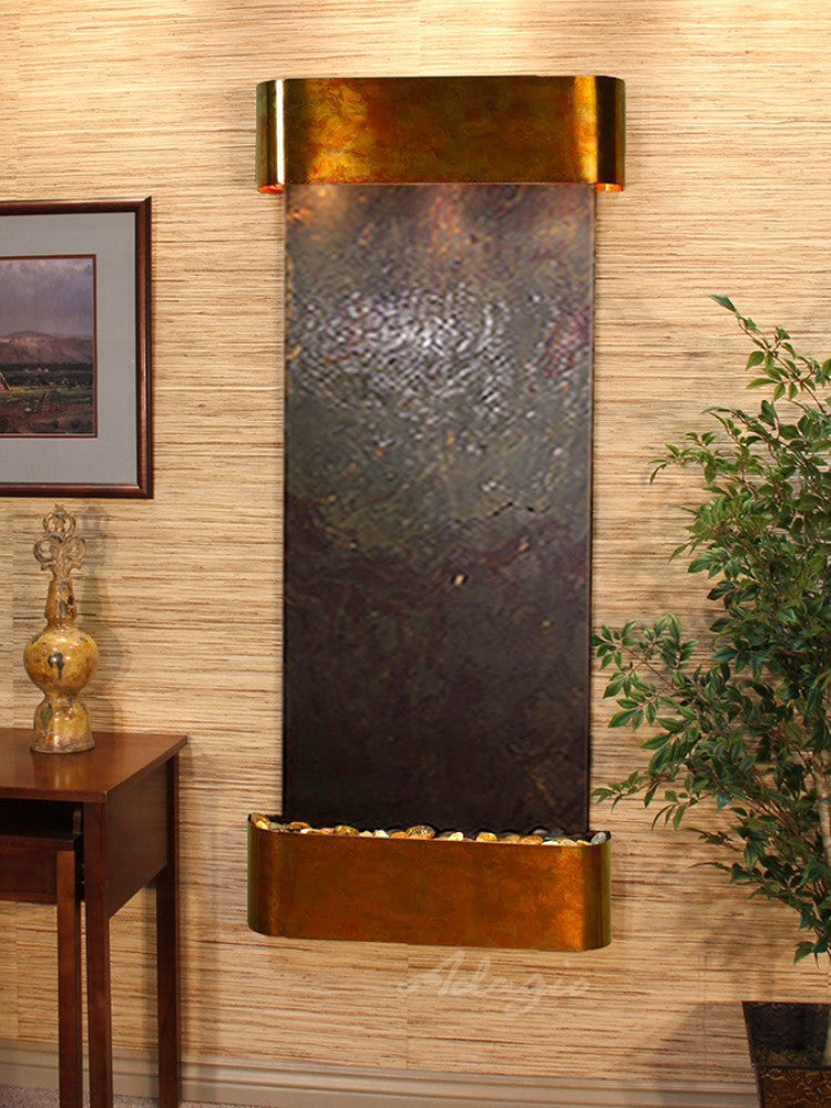 Inspiration Falls - Multi-Color FeatherStone - Rustic Copper - Rounded Corners - Soothing Walls
