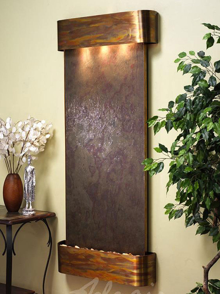 Inspiration Falls: Multi-Color FeatherStone and Rustic Copper Trim with Rounded Corners