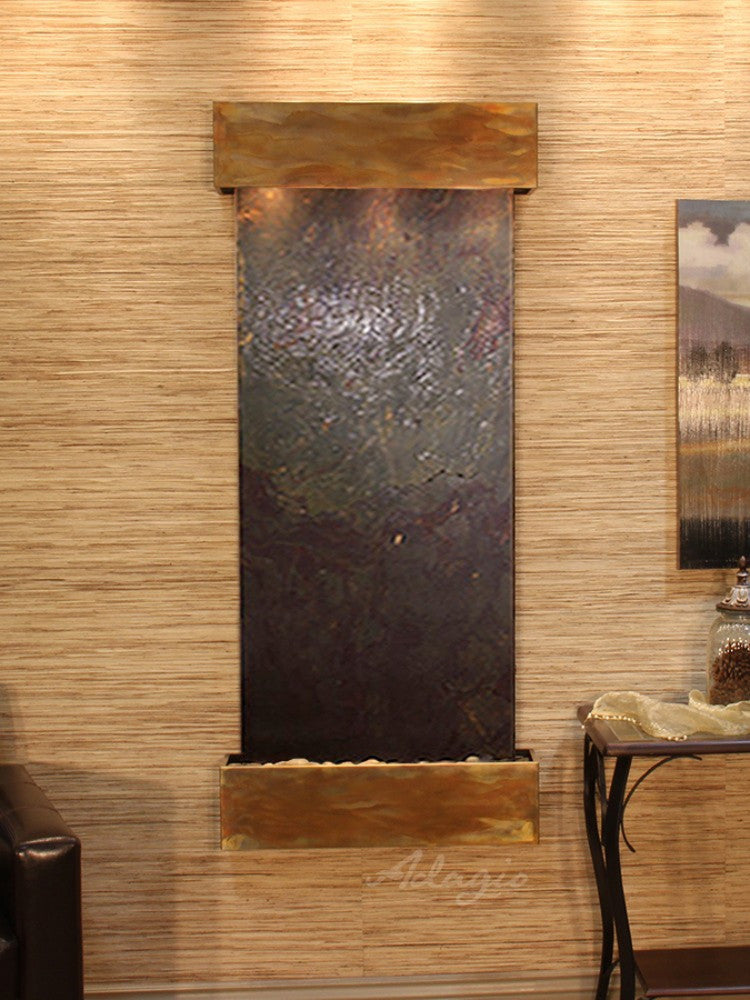 Inspiration Falls - Multi-Color FeatherStone - Rustic Copper - Squared Corners - Soothing Walls