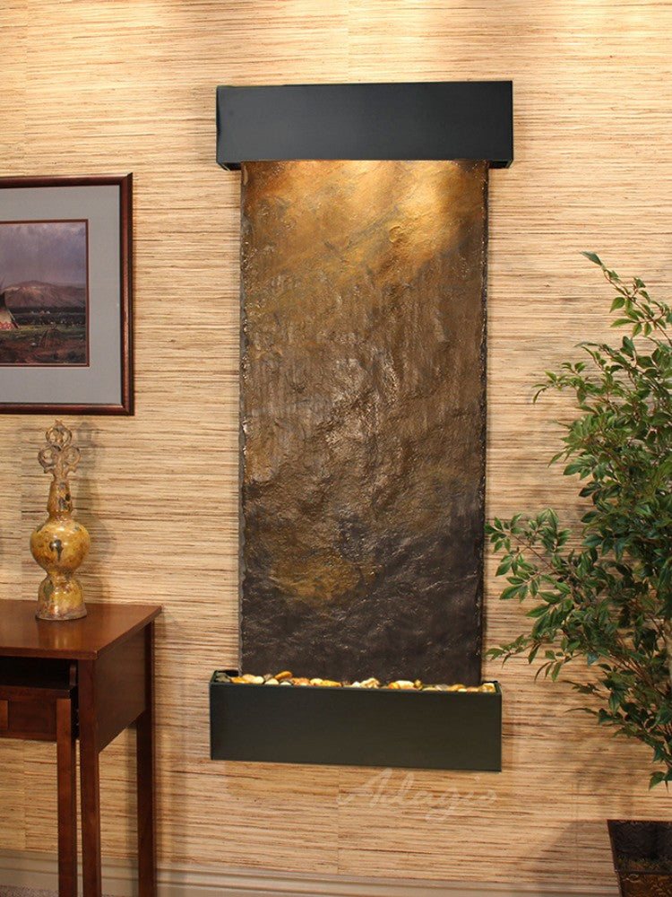 Inspiration Falls - Multi-Color Slate - Blackened Copper - Squared Corners - Soothing Walls