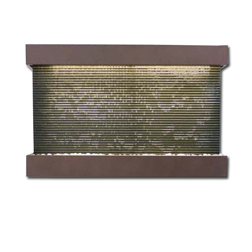 Large Horizon Falls Classic Quarry Wall Fountain - Black Granite/Copper Vein - Soothing Walls