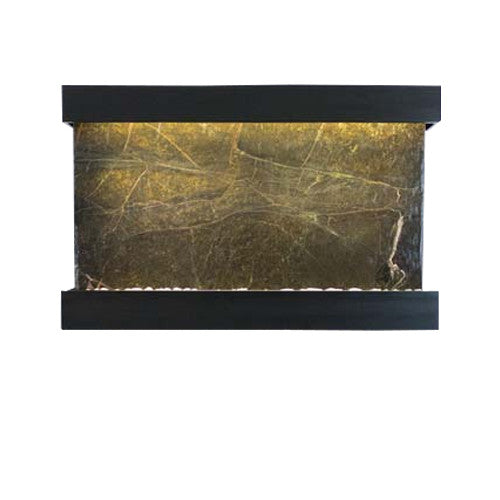 Large Horizon Falls Classic Quarry Wall Fountain - Rainforest Green Marble/Black Onyx - Soothing Walls