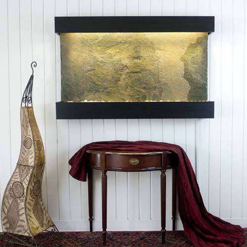 Large Horizon Falls Classic Quarry Wall Fountain - Jeera Slate/Black Onyx - Soothing Walls