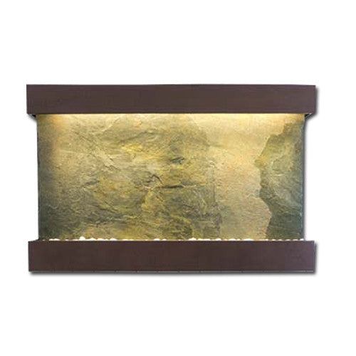 Large Horizon Falls Classic Quarry Wall Fountain - Jeera Slate/Copper Vein - Soothing Walls