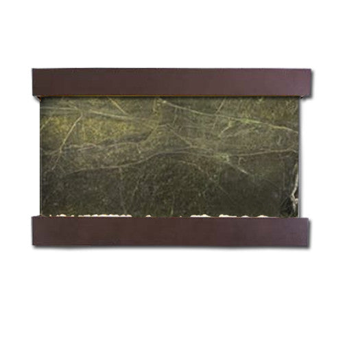 Large Horizon Falls Classic Quarry Wall Fountain - Rainforest Green Marble/Copper Vein - Soothing Walls