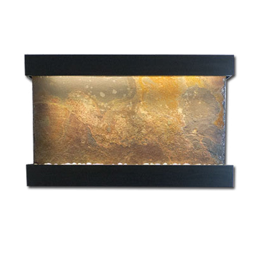 Large Horizon Falls Classic Quarry Wall Fountain - Rajah Slate/Black Onyx - Soothing Walls