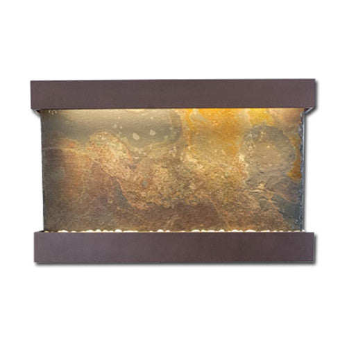 Large Horizon Falls Classic Quarry Wall Fountain - Rajah Slate/Copper Vein - Soothing Walls