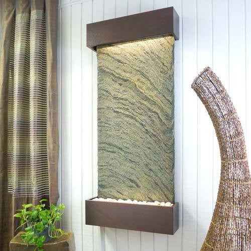Classic Quarry Nojoqui Falls Wall Fountain - Jeera Slate with Coppervein Trim - Soothing Walls