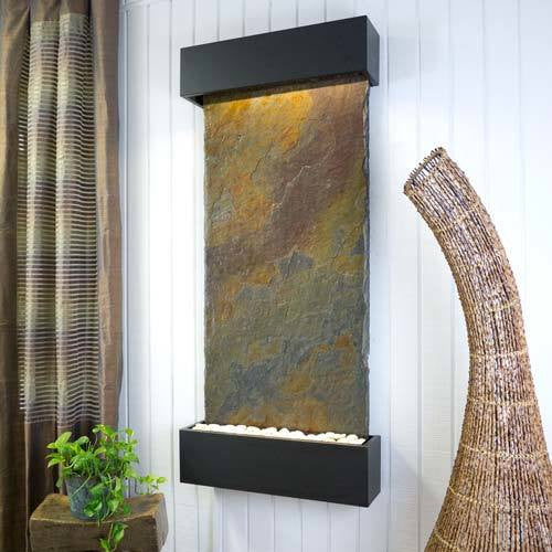 Classic Quarry Nojoqui Falls Wall Fountain - Rajah Slate with Black Onyx Trim - Soothing Walls