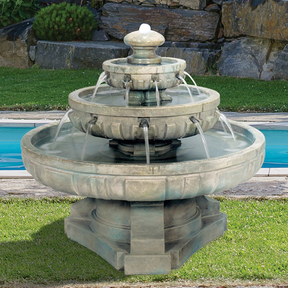 Large Regal Tier Outdoor Fountain - Soothing Walls