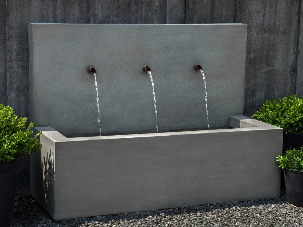 Long Beach Wall Outdoor Fountain - Outdoor Fountains - Soothing Walls