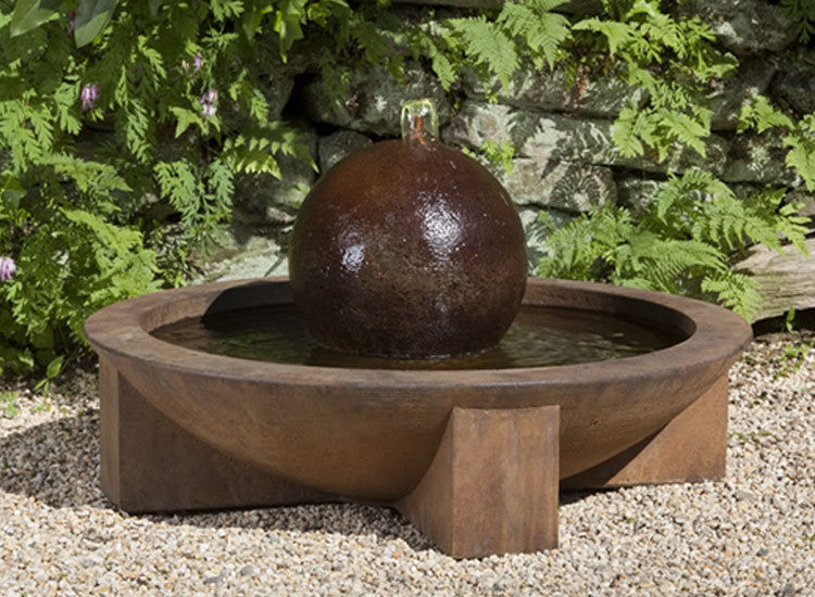 Low Zen Sphere Garden Fountain - Soothing Walls
