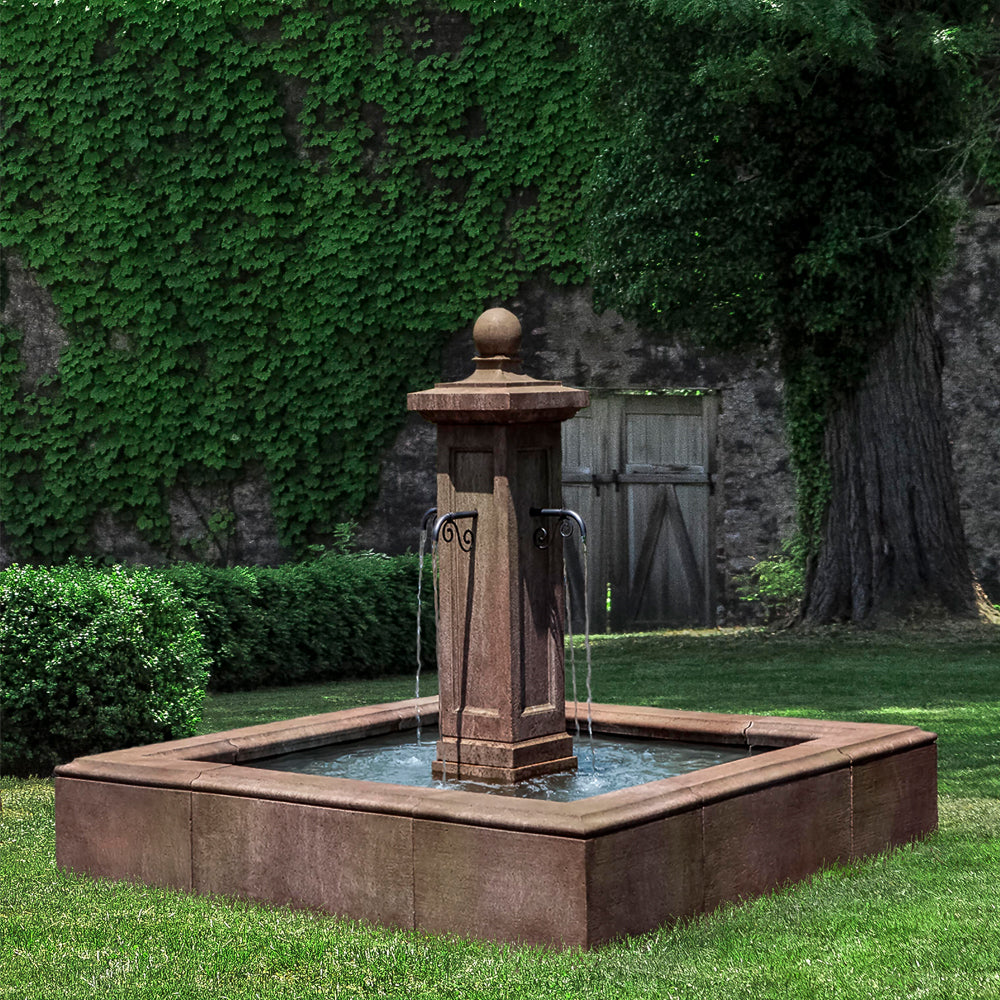 Luberon Estate Outdoor Fountain -  Outdoor Fountains - Soothing Walls