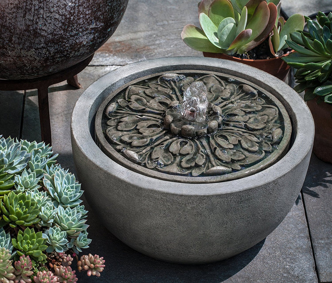 M-Series Medallion Garden Water Fountain - Soothing Walls