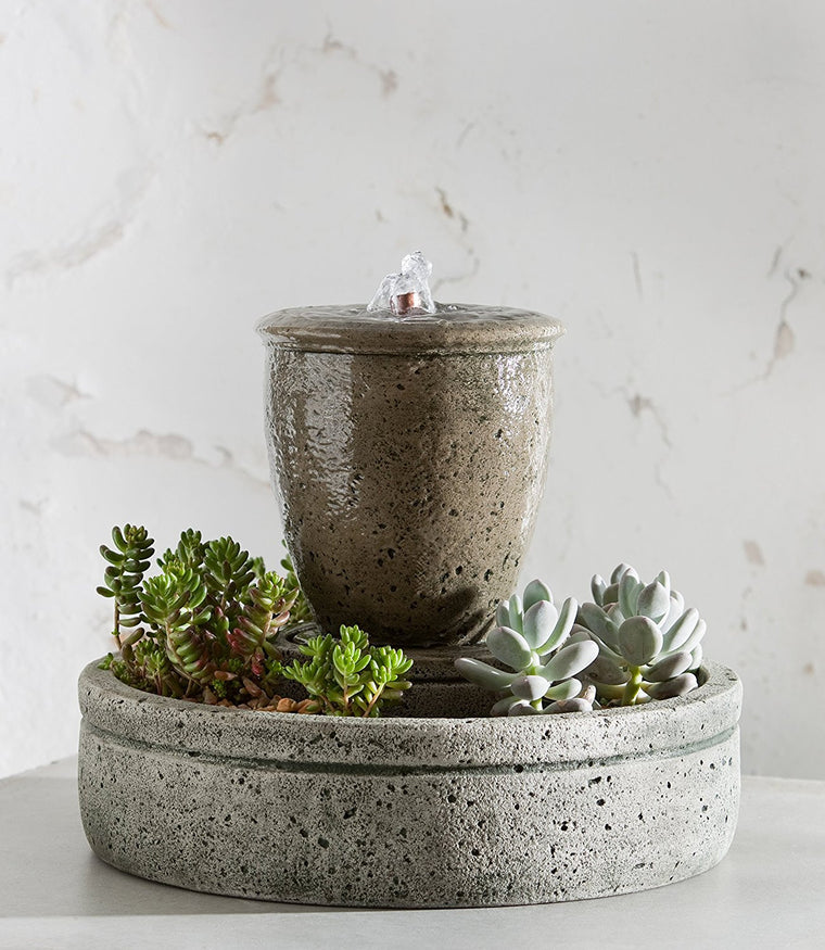 M-Series Rustic Spa Fountain with Planter - Soothing Walls