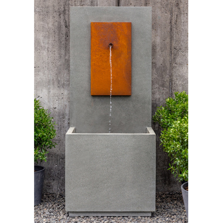 MC1 Wall Outdoor Fountain - Corten Steel - Soothing Walls