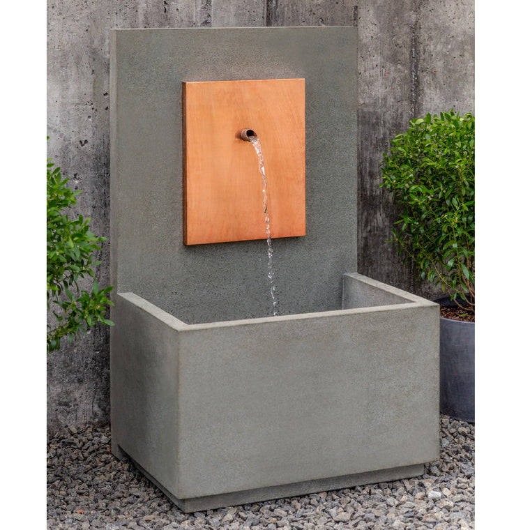 MC2 Wall Outdoor Fountain - Corten Steel - Soothing Walls