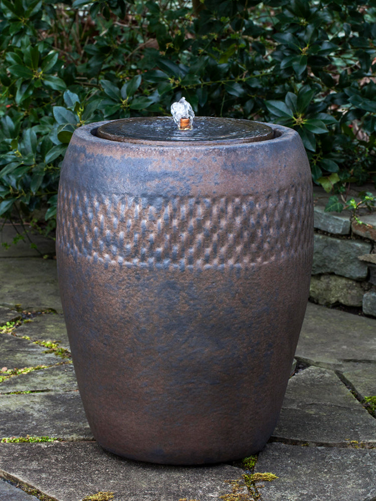 Malmo Glazed Urn Garden Fountain   Tall In Bronze   Outdoor Fountains    Soothing Walls ...