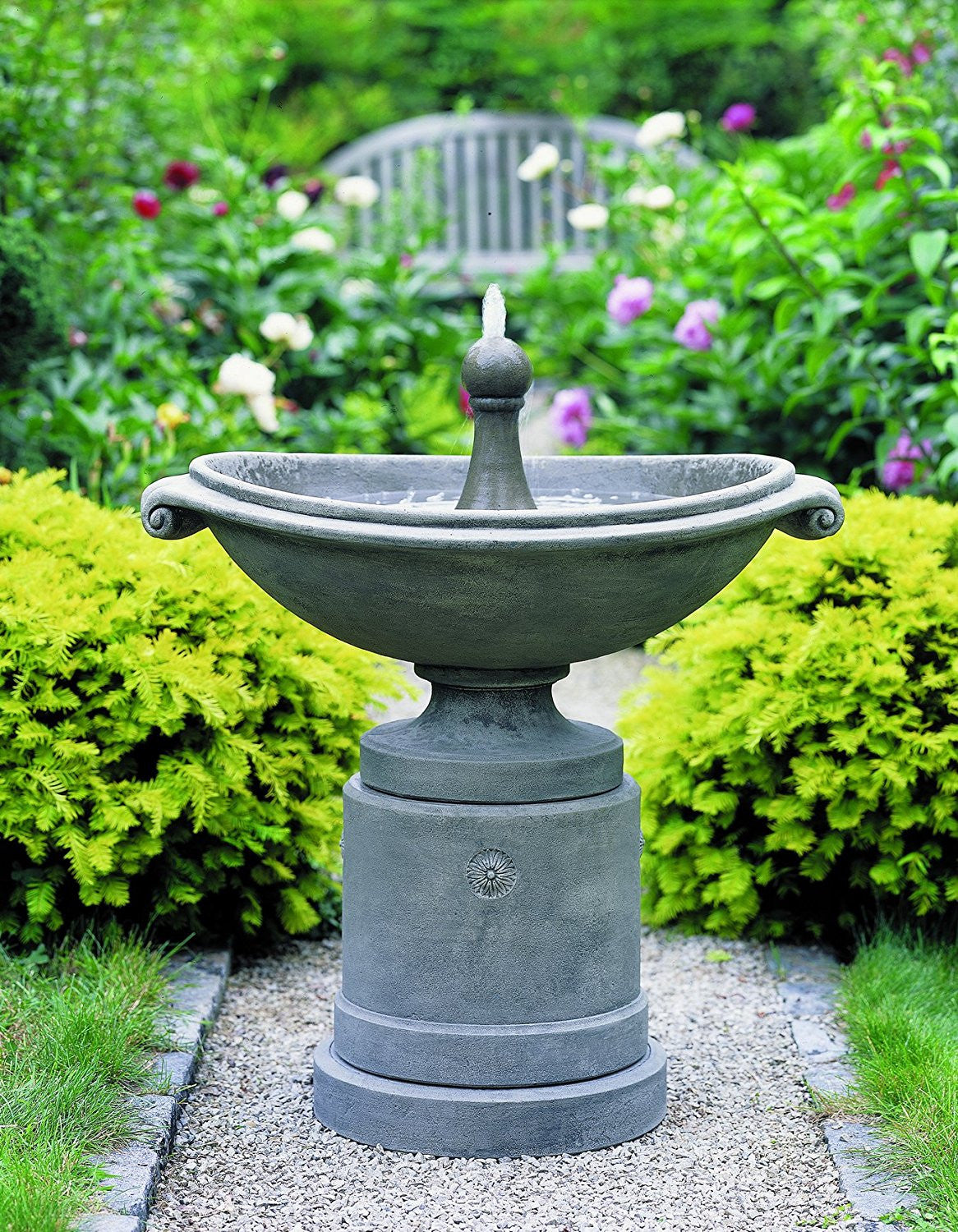 Medici Ellipse Garden Fountain - Soothing Walls
