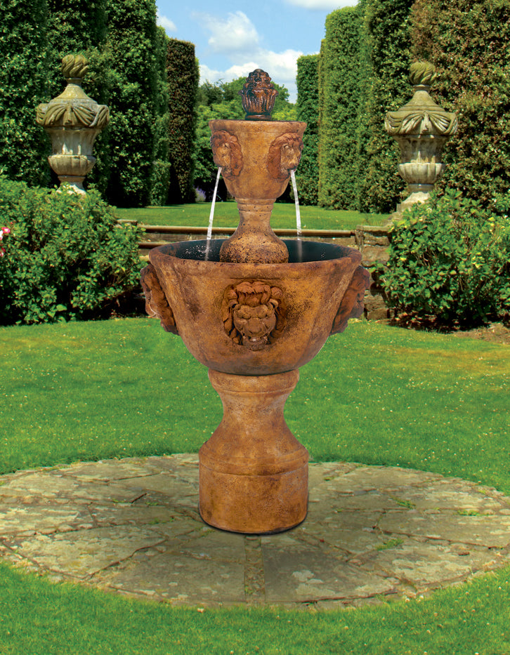 Medium Two Tier Leonesco Garden Water Fountain - Soothing Walls
