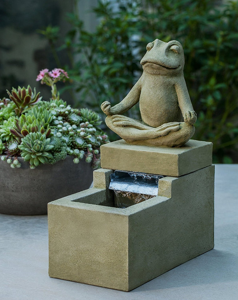 Mini Element Zen Frog Fountain - Soothing Walls