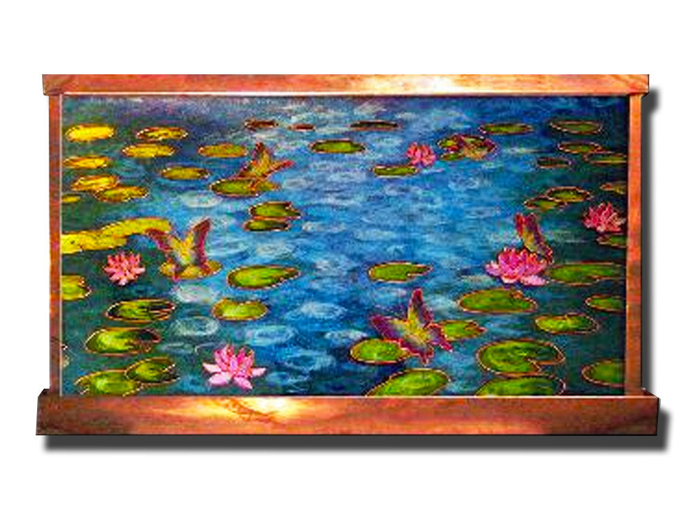 Monet's Water Lilies Wall Fountain - Soothing Walls