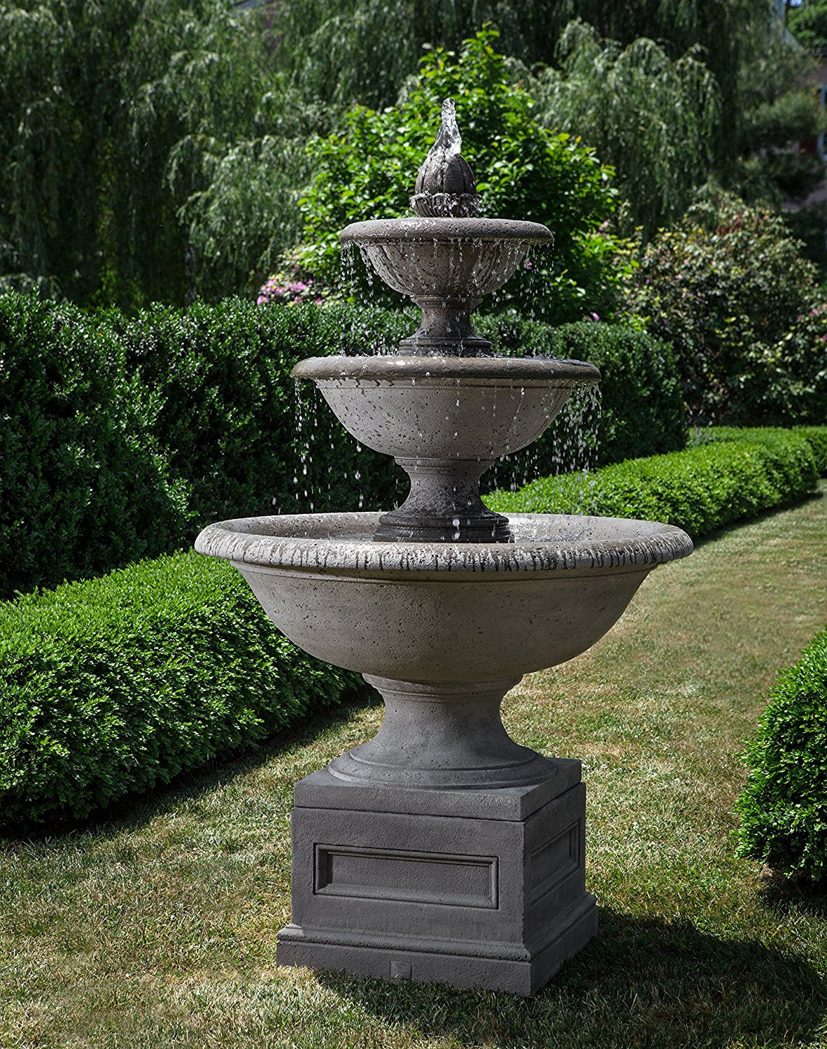 Monteros Tiered Outdoor Water Fountain - Soothing Walls