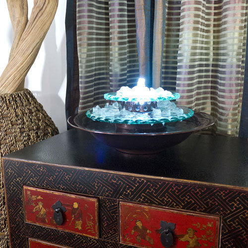 Incroyable Moon Light Tabletop Fountain   Soothing Walls