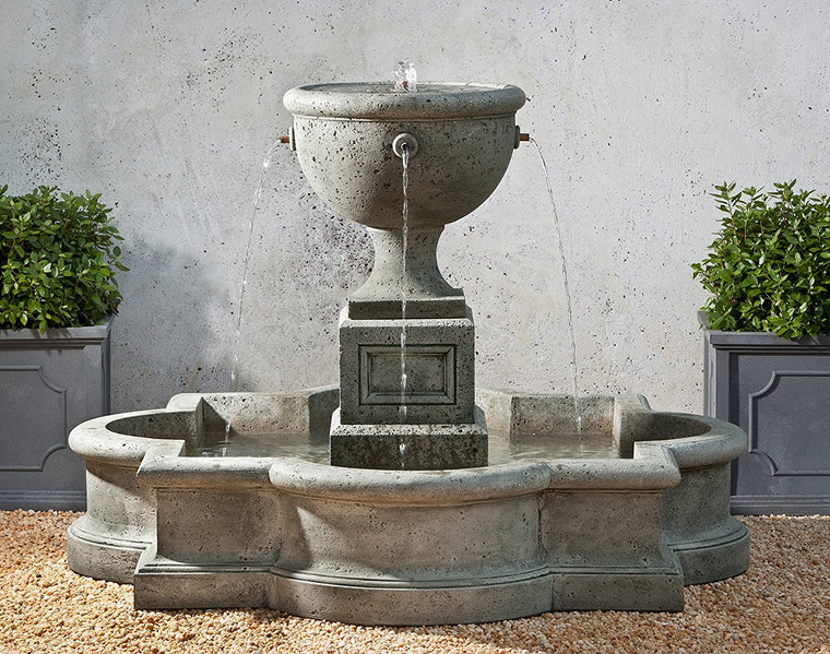 Navonna Outdoor Fountain with Pool - Soothing Walls