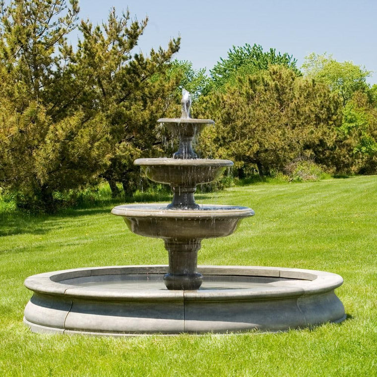 Perfect Newport Garden Outdoor Water Fountain With Basin Soothing Walls  With Water Fountains Garden