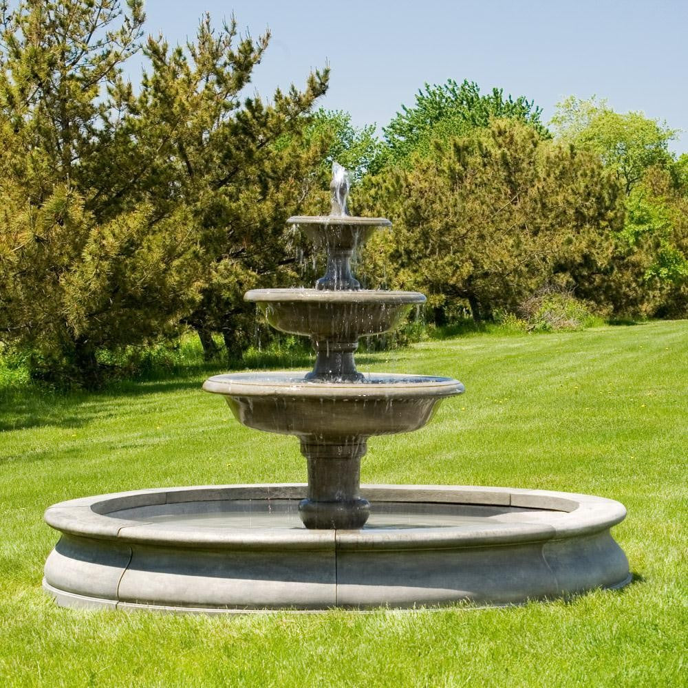 Newport Garden Outdoor Water Fountain With Basin   Soothing Walls ...